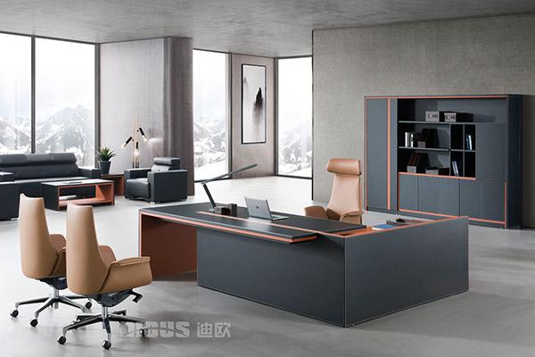 公司企业高端老板桌办公室老板班台-致德