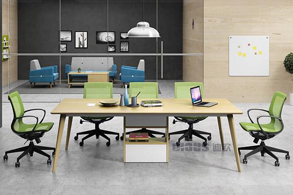 公司企业接待洽谈区域洽谈会议台办公桌-职员