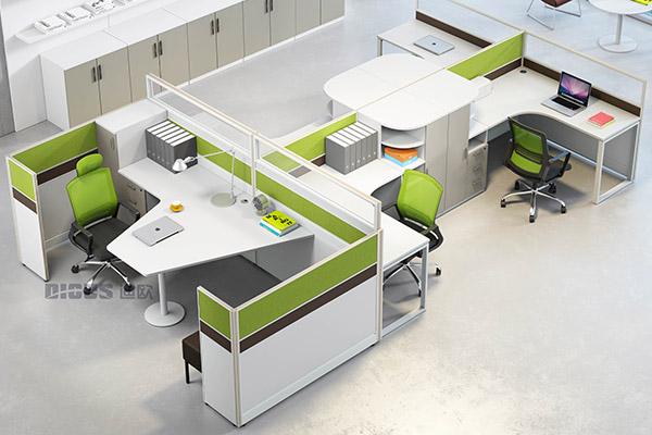 现代简约职员办公桌行政桌职员办公桌厂家-卓雅