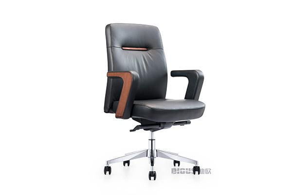 欧美风可活动进口皮质总裁经理配套办公椅子-ODM