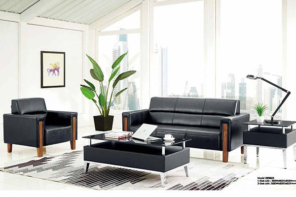 公司企业总裁经理室洽谈区黑橡木沙发-森雅图