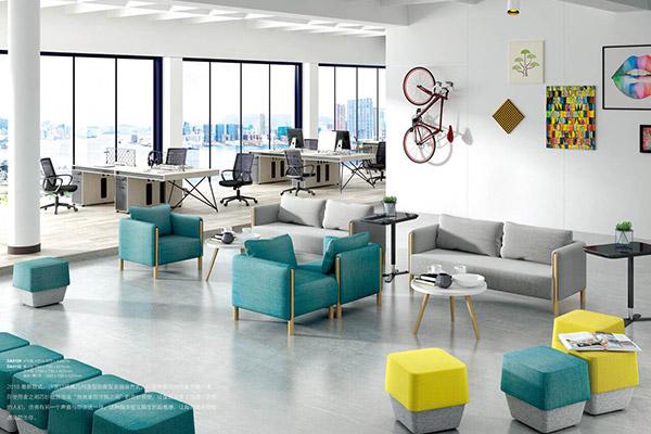 简约休闲办公沙发优质进口布艺设计-森雅图