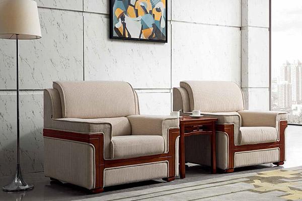 事业单位总裁用软体家具单人沙发-森雅图