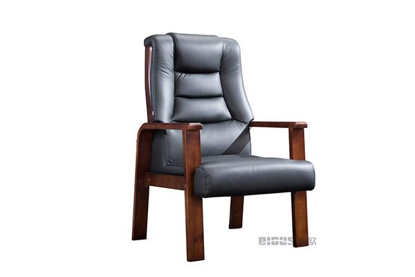 总监木制时尚黑色皮质靠背老板班椅