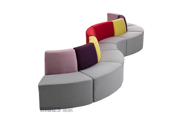 时尚简约办公室公共休息区域休闲沙发