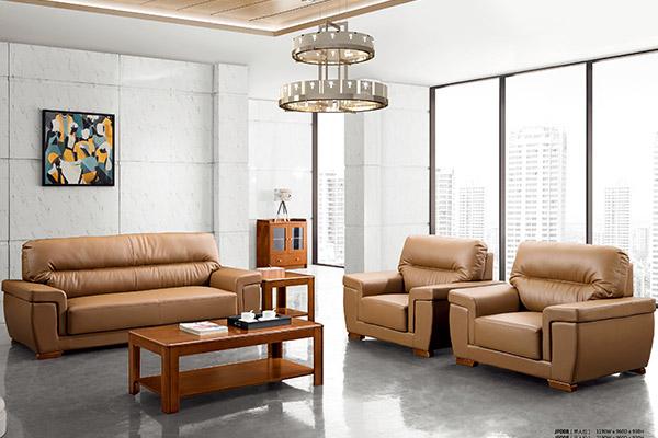 公司企业接待洽谈室进口皮质配套沙发