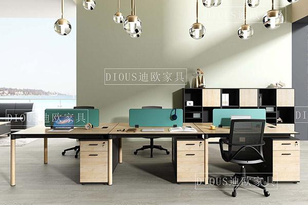 迪欧2018新款简约时尚屏风卡位职员办公桌椅