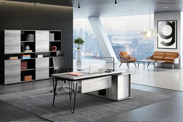 迪欧厂家定制圆方系列 - 老板创业现代办公室办公桌