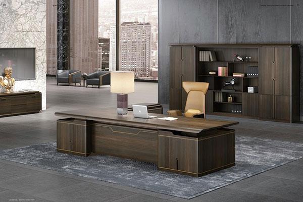 奥特莱斯品牌曲美系列 - 时尚宽敞老板办公室大班台